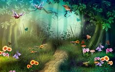 Forest wildlife Wallpaper