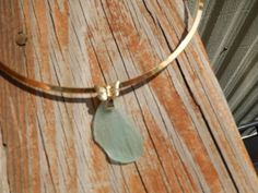 Sea Foam Sea Glass Pendant with Butterfly Bail with by Deesshoppe, $12.00