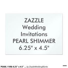 "PEARL 110lb 6.25"" x 4.5"" Wedding Invitations"