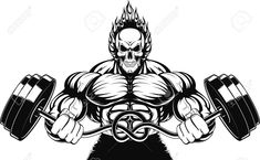 Illustration about Vector illustration of a strong bodybuilder with barbell. Illustration of building, builder, exercise - 53759383 Bodybuilding At Home, Bodybuilding Workouts, Bodybuilding Motivation, Bodybuilder, Build Muscle Mass, Muscle Building, Gym Logo, Cardio Workout At Home, Chest Muscles
