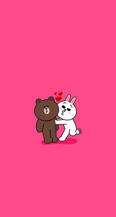 BROWN PIC is where you can find all the character GIFs, pics and free wallpapers of LINE friends. Come and meet Brown, Cony, Choco, Sally and other friends! Lines Wallpaper, Brown Wallpaper, Pink Wallpaper Iphone, Cute Wallpaper For Phone, Couple Wallpaper, Cute Wallpaper Backgrounds, Cute Wallpapers, Line Cony, Cony Brown