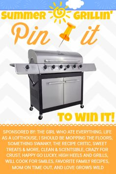 Summer Grilling BBQ at crazyforcrust.com. Come enter to win a BBQ!
