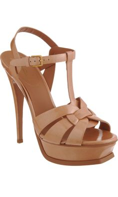 barneys sale pick: ysl nude patent tribute sandals. this will be an outfit staple. why don't they have my size???