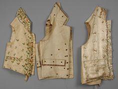 LOT 573 THREE GENTS SILK EMBROIDERED WAISTCOATS, 1800 - 1815. - whitakerauction