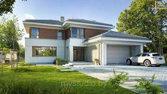 Проект двухэтажного дома с гаражом на две машины - Уникальный 1