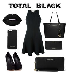 """Total black forever"" by sophie01234 ❤ liked on Polyvore featuring Giuseppe Zanotti, MICHAEL Michael Kors and Michael Kors"