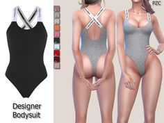 "sssvitlans: "" Created By Pinkzombiecupcakes Designer Bodysuit Sleepwear Created for: The Sims 4 -Designer Bodysuit Sleepwear available in 10 colors.(by CK) -CAS thumbnail -Hot and cold. Sims 4 Mods Clothes, Sims 4 Clothing, Clothing Sets, My Sims, Sims Cc, Cc Top, Sims 4 Cc Eyes, Sims 4 Pets, The Sims 4 Cabelos"