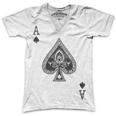 Be An Ace Mens Tee White now featured on Fab.