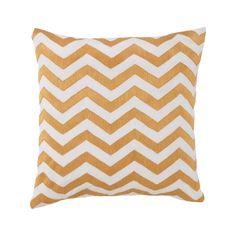 Plimpton Flame Chevron Embroidery Decorative Throw Pillow