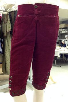 A Closer Look at an 18th-Century Suit | Kent State University Museum...The front of the breeches