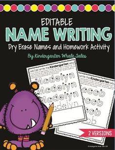 Do you want to establish correct handwriting behaviors early? This product is just for you as it begins with every child's favorite first word--their name!  It is completely EDITABLE!  You can simply type in your students' names and a personalized practice handwriting sheet can be given to each child to use in literacy centers, group work, or any way independently.  Each letter shows the correct formation and gives dots to guide students of where to start each letter.