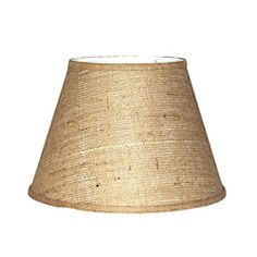 Brown Burlap Modified Drum Lamp Shade - Overstock™ Shopping - Great Deals on Crown Lighting Table Lamps