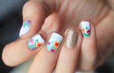 Diseños de uñas juveniles de moda, Diseños de uñas juveniles flores.  Follow! #diseñatusuñas #decoratednails #uñasfinas