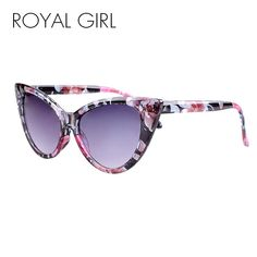 ae5774d06ca ROYAL GIRL Fashion Retro Cat Eye Sunglasses Women Summer Style UV  Protection Glasses Oculos De Sol Feminino ss262