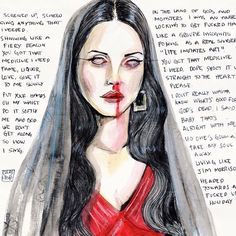 Lana Del Rey #LDR #Gods_And_Monsters #art by Lucas David
