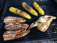 Grilled Pork Belly, Baby Chicken and Corn @ WineNBread