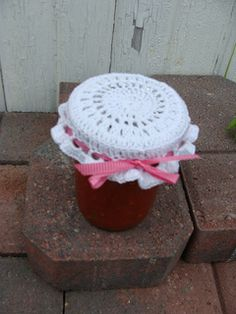 Crochet Patterns Jar Lids : ... crochet jar lid cover free pattern on Pinterest Jar Lids, Mason Jar