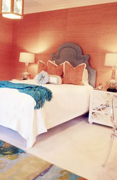 coral & turquoise. Check out My Chic Nest's collection of chic headboards that can all by customized to suit you!