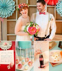 Coca-Cola themed wedding - interesting color combinations