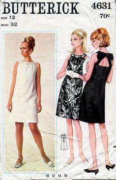 1960s Mod Cocktail CutOut Mini Dress Vintage by BessieAndMaive, $24.00