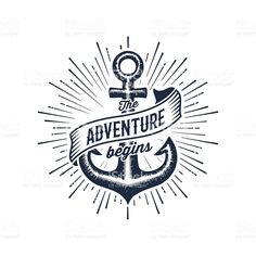 Dot Bo Logo Psd - The Adventure Begins Vintage Illustration With Anchor Design For Free Technology Sense Blue Dot Line Combined With A Surge Of Round Pin By Titrit Desi. T Shirt Design Vector, Logo Design Template, Logo Templates, Anchor Illustration, Outdoor Logos, Anchor Logo, Logo Psd, Online Logo, And So The Adventure Begins
