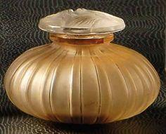 Lalique Perfume Bottle Cotes Bouchon Papillons