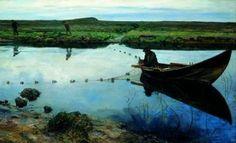 Eilif Peterssen (1852-1928): Laksefiskere, 1889