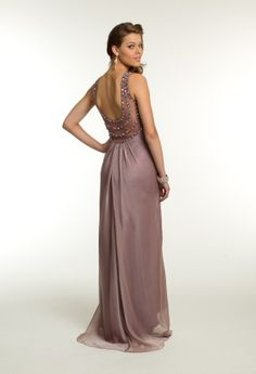 Beaded Illusion Empire Dress from Camille La Vie and Group USA #homecoming #homecomingdresses #prom