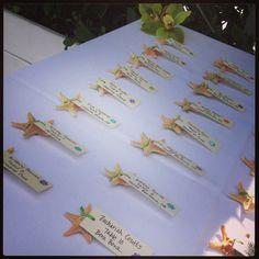 Star fish escort cards #velvetalleyevents
