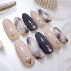 Make an original manicure for Valentine's Day - My Nails Acrylic Nail Designs, Nail Art Designs, Acrylic Colors, Korean Nails, Japanese Nail Art, Trendy Nail Art, Super Nails, Almond Nails, Simple Nails
