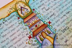 visual blessings: Revisiting and Finishing a Journal Past - as always beautiful journal entry
