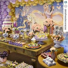 #Repost @detalhesdecoracao with @repostapp. ・・・ Rapunzel Decoração by @detalhesdecoracao ...