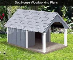 30 x 36 Small Dog House Plans Gable Roof Style with Porch Design