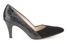 Womens Smart Shoes - Dalhart Grove in Black Combination Suede from Clarks shoes