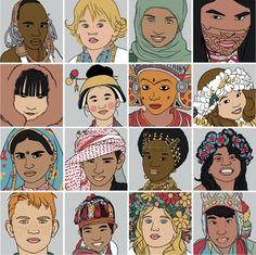 je de memoire illustré memory illustration portraits enfants du monde