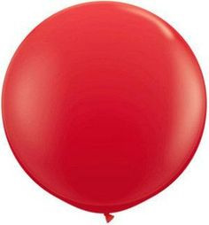 36 inch Red Balloon Big Red Balloon Christmas Red by PartySurprise