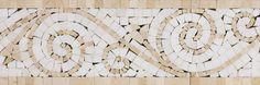 Crema Marfil / Thassos Tsuna #mosaic #border polished @Allstone Boston