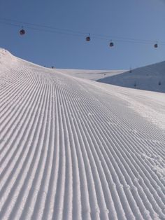 Freshly groomed slope, Klausberg - Italy...nothing better than hittin' the slopes after grooming!