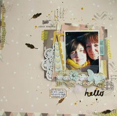 #papercraft #Scrapbook #layout.  using Sarah Hurley's monthly kit club package.
