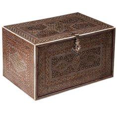 An Exceptional Indo Persian Sadeli Casket Table Box