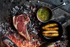 Ember-Grilled Steak with Bay Leaf Browned Butter Recipe - Bon Appétit Carne Asada, Barbacoa, Bon Appetit, Porterhouse Steak Recipe, Beef Steak, Paleo Diet Rules, Paleo On The Go, Going Paleo, Skirt Steak