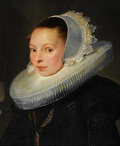 DE VOS Cornelis - Flemish (Hulst 1584-1651 Antwerpen) ~ Portrait of a girl, 1628