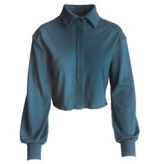 Teal shirt that will pair perfectly with denim jeans. Ever wonder how to dress up a pair of jeans, this is the perfect blouse for that. Teal Shirt, Significant Other, Denim Jeans, Button Up Shirts, Dress Up, Trousers, Buttons, Long Sleeve, Sleeves