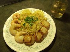 Shrimp, scallops and pasta