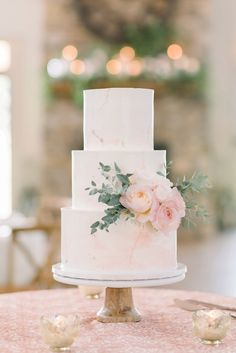 Watercolor buttercream cake with complementing fresh flowers by Cakes by Rachel in Crozet, VA Blush Wedding Cakes, Floral Wedding Cakes, Beautiful Wedding Cakes, Wedding Cake Designs, Elegant Wedding, Our Wedding, Dream Wedding, Lace Wedding, Blush Weddings