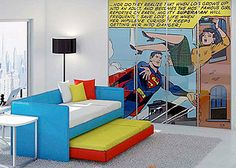 specs+spaces  Holy Comic Books – Look at that Room! #pinhonest