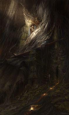 Evocative fantasy artwork by Christof Grobelski World Of Fantasy, Fantasy Places, High Fantasy, Dark Fantasy Art, Fantasy Artwork, Dark Art, Weird Creatures, Environment Design, Fantastic Art