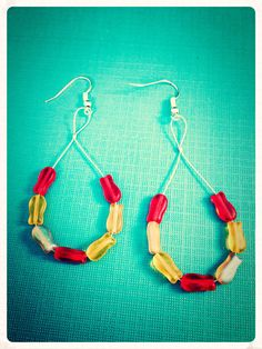 Czech Glass Earrings by WrappedJewerlyDesign on Etsy