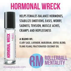 Hormonal Wreck Rollerball Mentality Blend great for #hormones #tension #sadness…