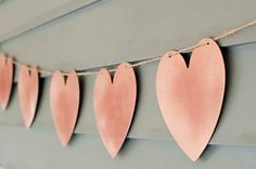 DIY heart garland from The Sweetest Occasion